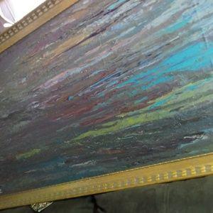 Huge painting framed